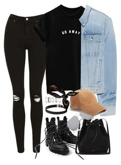 """""""Untitled #1056"""" by elly98 ❤ liked on Polyvore featuring Topshop, rag & bone, Mansur Gavriel, Yves Saint Laurent, H&M and Hermès"""