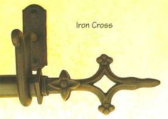 Another look at the La Cruz de Hierro - Cross of Iron - finial set from Paso Robles Ironworks, Paso Robles, California.  Wonderful company with personalized service, dedicated to the blacksmithing craft.  For family, living and dining rooms as well as landing windows and reading loft window.