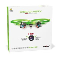 $99.95 UDI 818A HD+ RC Quadcopter Drone with HD Camera, Return Home Function and Headless Mode - EXTRA BATTERY Doubles Flight Time (Lime Green)