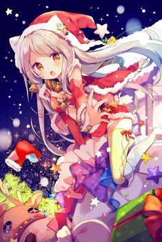 anime cat girl with santa dress Anime Girl Neko, Manga Girl, Me Anime, Anime Girl Cute, Beautiful Anime Girl, Manga Anime, Anime Girls, Anime Cat, Gifs Kawaii