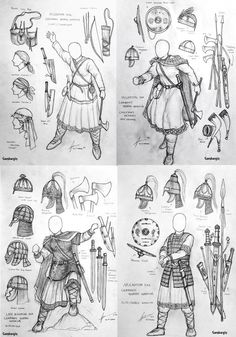 Migration Era Germanic Women Warriors Concept by Gambargin on DeviantArt