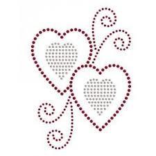 Hearts and Swirls Rhinestone