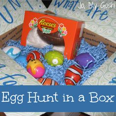 A Mailable Egg Hunt via Jo My Gosh