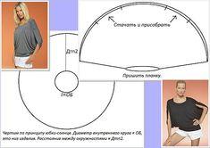 póló varrása körből- egyszerű szabásminták az oldalon