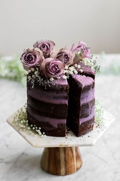 Constellation Inspiration: Malted Chocolate Cake with Lavender Oolong Buttercream