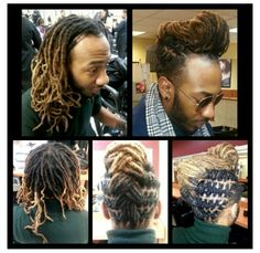The Miguel Look. Created by Moussa-Mann Moussa-Mann Mann Mann Mann Jackson Dreadlock Styles, Dreads Styles, Dreadlock Hairstyles, Dread Designs, Pretty Dreads, Kevin Jackson, Mens Dreads, Braids With Shaved Sides, Natural Styles