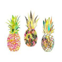 Snoogs  Wilde Pineapples Art Print