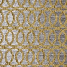 Chartreuse Entwined Circles Brocade