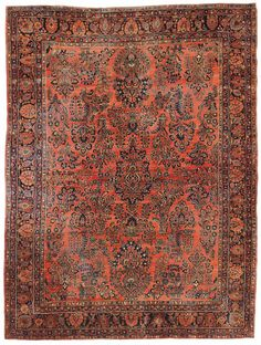 Antique Sarouk Rug    Hand-knotted in Persia  Circa 1925