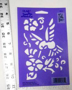 PLAID-Simply-Stencils-humingbird-design-floral-flower-design-bird-craft-art-draw  #BigBoyTumbleweed