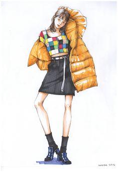 Dress Design Drawing, Dress Design Sketches, Fashion Design Sketchbook, Fashion Design Portfolio, Fashion Design Drawings, Fashion Sketches, Fashion Illustration Poses, Fashion Illustration Tutorial, Illustration Art