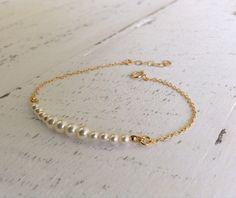 Swarovski Pearls & Gold Bracelet Gold-filled by LuluMayJewelry