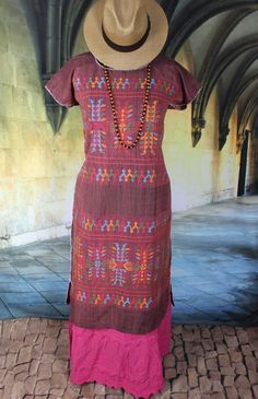 Amuzgo Huipil Loosely Hand Woven Oaxaca Mexico Hippie Frida Boho Santa Fe Style  #Handmade #huipil