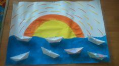Západ slnka a papierové loďky