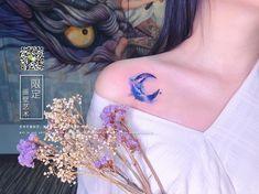 Luna Tattoo, Constilation Tattoo, Tattoo Shop, Chest Tattoo, Mini Tattoos, Tattoos Skull, Body Art Tattoos, Stomach Tattoos, Animal Tattoos