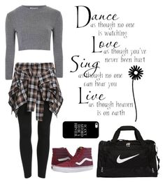 """""""hip hop"""" by cori-felton ❤ liked on Polyvore featuring Glamorous, Vans, Casetify, NIKE, women's clothing, women, female, woman, misses and juniors"""