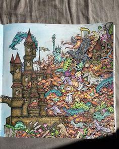 Part two #kerbyrosanes #imagimorphia #coloringbook