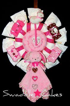 Lulla-Bunny Diaper Wreath by swaddlestar, via Flickr