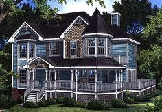 Victorian House Plan chp-48318 at COOLhouseplans.com