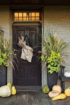 Pumpkin Ideas For Your Front Door