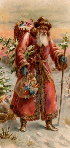 antique Santa Postcard