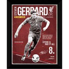 Liverpool F.C. Picture Gerrard Retro 16 x 12