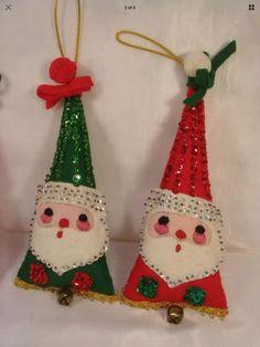 Old Time Christmas, Christmas Crafts To Make, Christmas Makes, Antique Christmas, Merry Little Christmas, Vintage Christmas Cards, Vintage Holiday, Felt Christmas, Christmas Projects