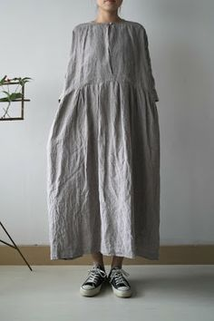 .yet another grey linen dress , just can't get enough