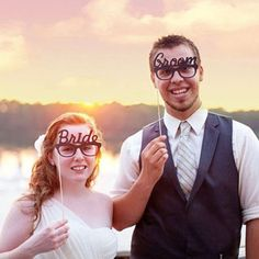 Bride & Groom Photo Booth Props Photobooth For Wedding Decoration
