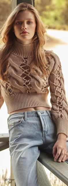 Kristina Robles - Elle Croatia knit sweater women fashion outfit clothing style apparel @roressclothes closet ideas