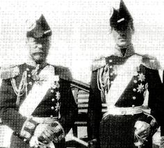 Tsar Nicholas ll of Russia  and Grand Duke Mikhail Alexandrovich Romanov of Russia.A♥W