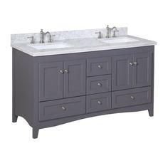 Contemporary Art Sites Stufurhome inch Malibu Grey Double Sink Bathroom Vanity Overstock Shopping The Best Deals on Bathroom Vanities Bathroom Reno Pinterest