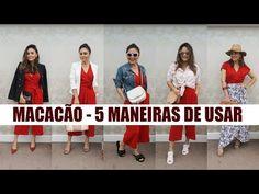 COMO USAR MACACÃO - 1 MACACÃO 5 LOOKS /MARCIA GABRIEL - YouTube
