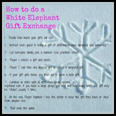 White Elephant Gift Exchange Rules and Printables | White elephant ...