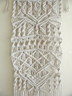 Macrame Small Bohemian Tribal Rustic Totem Style Wall by GeoJoyful