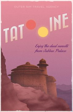 For EM (or me!): Star Wars Inspired Vintage Travel Poster by ThePixelEmpire on etsy