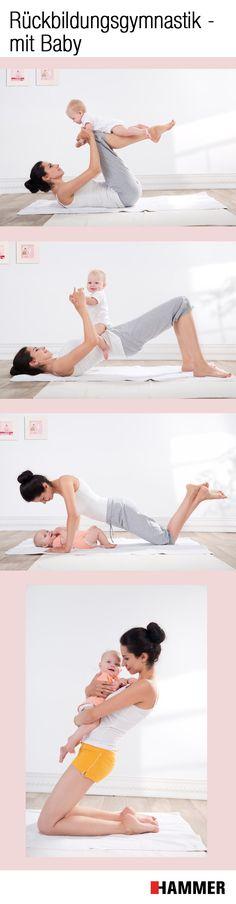 """Mit unseren #Übungen bleibst du während der #Schwangerschaft fit und kommst danach schnell wieder in Form. Für doppelt so viel Spaß kann dein Baby auch """"mittrainieren"""" #rückbildungsgymnastik #workout #schwanger #fitness #abnehmen"""