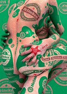 Heineken. And another sexy beer ad
