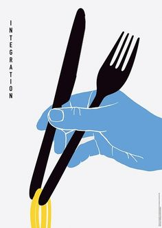 Illustration | Integration by unknown #food #eating #utensils