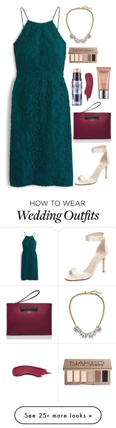 """""""Wedding guest"""" by thelizzielou on Polyvore featuring Banana Republic, J.Crew, Kate Spade, Urban Decay and Benefit"""