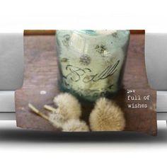 KESS InHouse Jar of Wishes by Debbra Obertanec Fleece Throw Blanket Size: