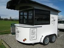 Solar Powered Mobile Coffee Cart
