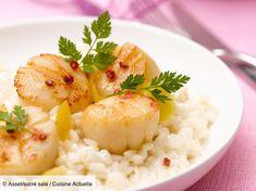 Risotto aux Saint-Jacques - Recettes - The Best Sea Recipes Surimi Recipes, Endive Recipes, Healthy Salad Recipes, Veggie Recipes, Cooking Recipes, Cooking Ideas, Healthy Food, Tostadas, Coffe Recipes