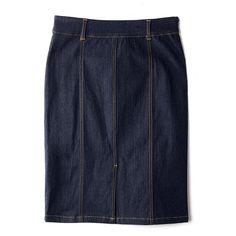mark. Pencil It In Denim Skirt | Avon Front slit for showing a little leg (and easier walking). #FallFashion #FallTrends #markFall