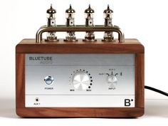 BlueTube Audio vacuum tube amplifier with built-in Bluetooth by ClockOS Team, via Kickstarter.