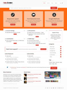 NowKnow, a knowledge base Responsive WordPress Bootstrap theme. #webdesign