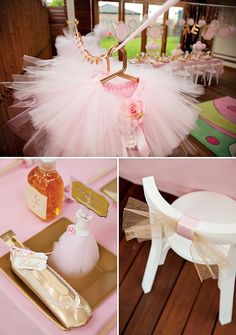 pink and gold party ideas | Pink & Gold Ballerina Party {4th Birthday} // Hostess with the Mostess ...