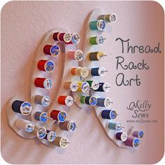 Thread Rack Art - Your initials!