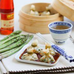 Shrimp & Asparagus Pouch Dumplings | Thirsty for Tea