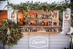 Inspiration for festive flowers, winter drinks and Christmas cocktails from JennyFleur and Oscar's Bar Hire. Christmas Minis, Outdoor Christmas, Xmas, Field Wedding, Boho Wedding, Dream Wedding, Mobile Coffee Shop, Handmade Christmas Crafts, Catering Trailer